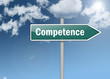 """Signpost """"Competence"""""""