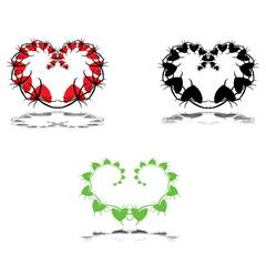 Valentine Hearts Leafs