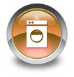 "Orange Glossy Pictogram ""Laundromat"""
