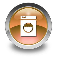 "Orange Glossy Pictogram ""Laundromat"""