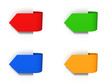 colorful arrow stickers or bookmarks set
