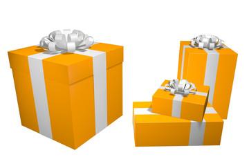 orange presents