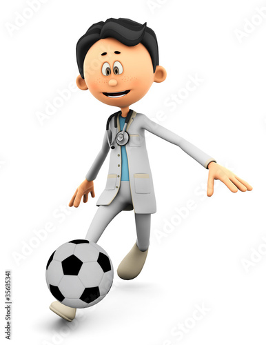 Dr Cartoon in footballer