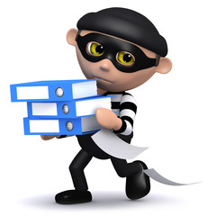 3d Burglar steals lots of files