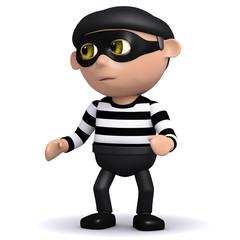 3d Burglar hears a noise!