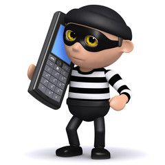 3d Burglar listening in on someones voicemail...