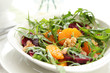 Rocket with orange and beetroot salad