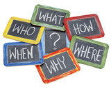 questions, brainstorming, decision making