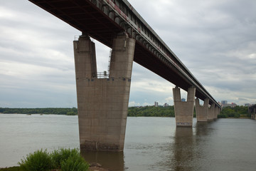 View of Novosibirsk,   Metro Bridge