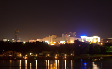 View of Novosibirsk in night