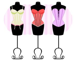 Modelando corsets