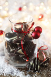 Chocolate Christmas Biscuits in a Jar