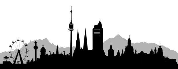 Wien mit Alpen
