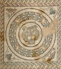 Mosaic fragment Roman Villa Romana del Casale, Sicily. UNESCO Wo