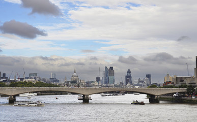 London cityscape and the river Thames