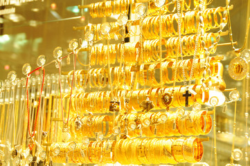 Lots of  gold jewelry