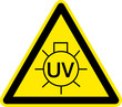Warnschild Warnzeichen UV-Strahlung Symbol
