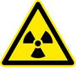 Warnschild Warnzeichen Radioatkive Stoffe Strahlung
