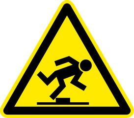 Warnschild Warnzeichen Hindernis Stolpergefahr