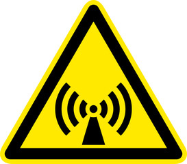 Warnschild Warnzeichen Elektromagnetische Strahlung