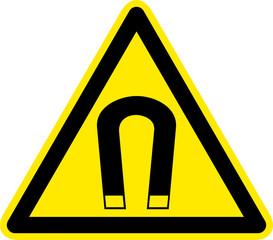 Warnschild Warnzeichen Magnet Magnetfeld Magnetismus