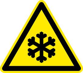 Warnschild Warnzeichen Kälte Frost Niedrige Temperaturen
