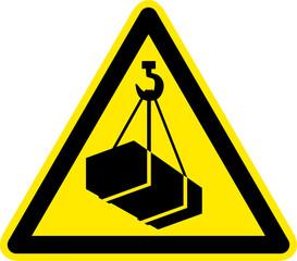 Warnschild Warnzeichen Schwebende Lasten Verletzungsgefahr