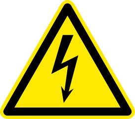 Warnschild Warnzeichen gefährliche elektrische Spannung