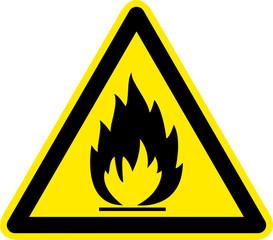 Warnzeichen Leicht- und Hochentzündliche Stoffe