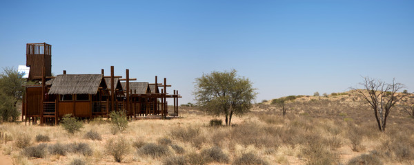Panoramic view of a lodge