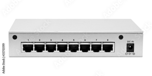 Lan switch back panel with 8 ports