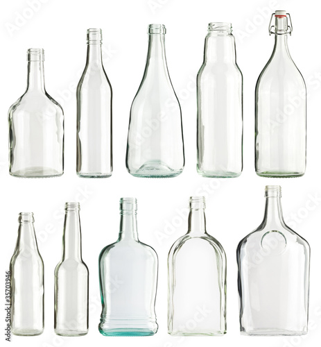 Leinwandbild Motiv Bottles