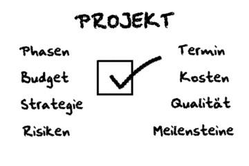 Projekt Entwurf white