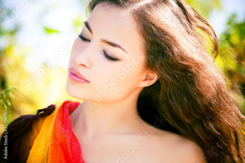 woman portrait in nature