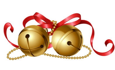 jingle bells with red bow