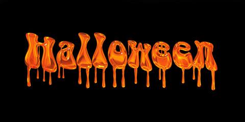 Halloween, texte fond noir