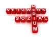 Soziales Netzwerk rot