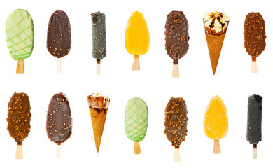 Collage of various ice creams
