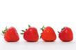 Vier Erdbeeren