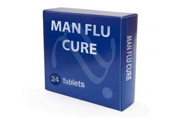 Man flu concept