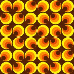 Muster mit Kreisen gelb braun