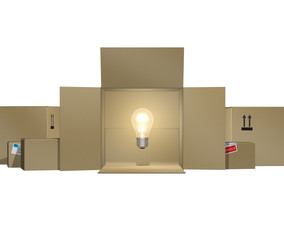 Light bulb in a box