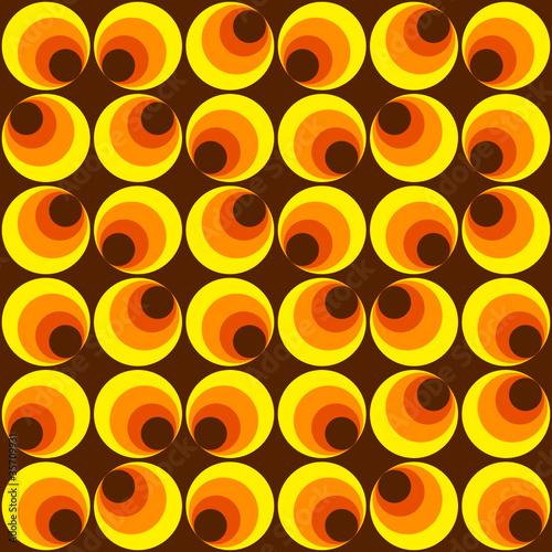 muster mit kreisen gelb braun von dipego lizenzfreier vektor 35709931 auf. Black Bedroom Furniture Sets. Home Design Ideas