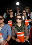 Spectators at cinema poster