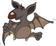 Little cheerful bat.Cartoon