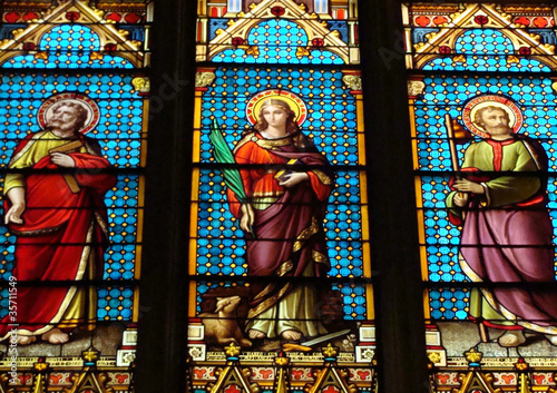 Fotobehang Stained Cathédrale Saint Patrick New York