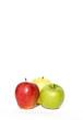 Mele su fondo bianco, frutta, dieta, alimentazione