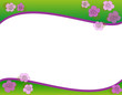 fiori viola su fondo verde sfumato