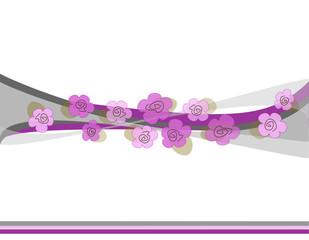 sfumature di grigio con fiori viola