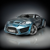 Hybrid sports car